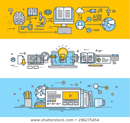Stock photo: Internet promotion, e learning vector illustration