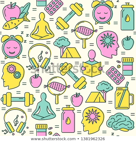 Stock photo: Biohacking Seamless Pattern Vector