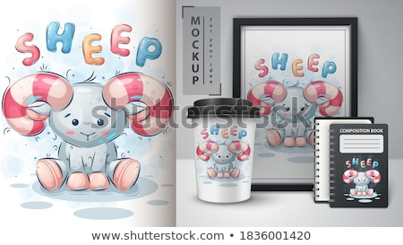 Engraçado teddy cartaz vetor eps 10 Foto stock © rwgusev
