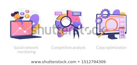 Internet reclame analytics vector metafoor seo Stockfoto © RAStudio