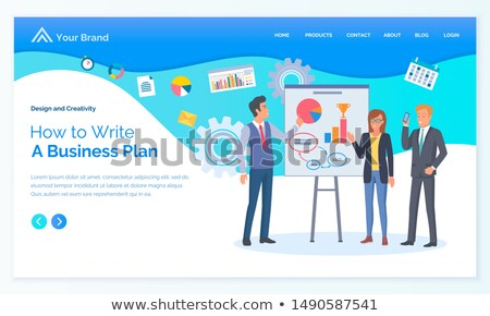 How to Write Business Plan, Worker Strategy Vector Stock photo © robuart