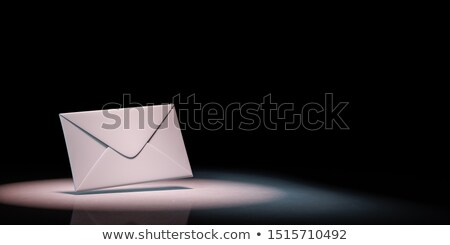 Witte envelop zwart wit papier zwarte exemplaar ruimte Stockfoto © make