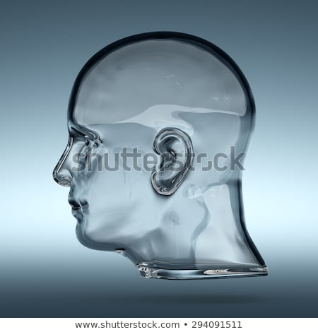 Glass human head Stock photo © nomadsoul1