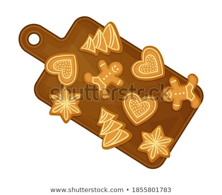 Cookies On Wooden Cutting Board Color Vector Stock photo © pikepicture