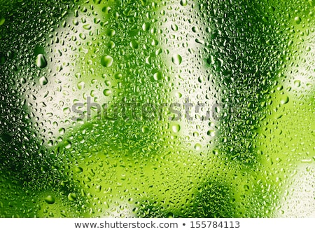 Glass of fresh green beer with splash on a white. Stock photo © artjazz