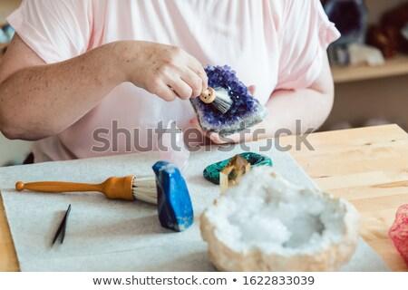 Kadın ametist atölye alışveriş genç temizlik Stok fotoğraf © Kzenon