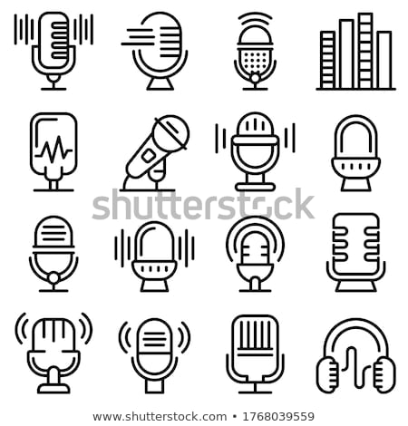 Microphone Host Device Icon Outline Illustration Stock photo © pikepicture