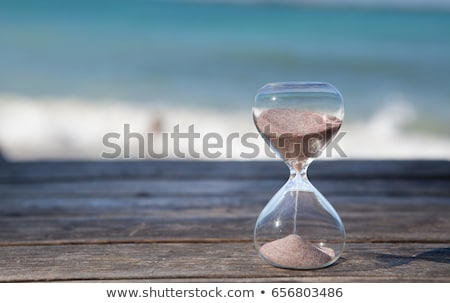 Last Minute Hourglass And On Beach Stock photo © AndreyPopov