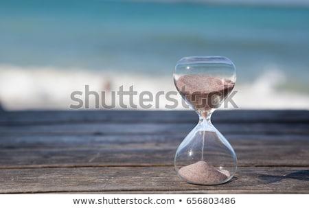 último minuto ampulheta praia areia praia tropical Foto stock © AndreyPopov