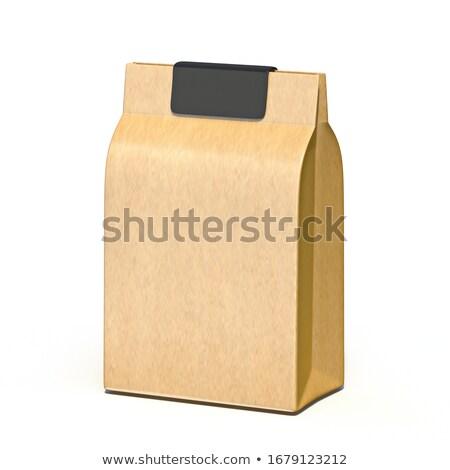 Pakpapier zak zwarte label 3D Stockfoto © djmilic