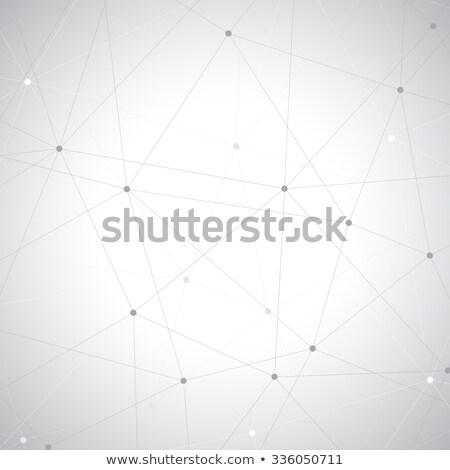 átomo símbolo estrutura cinza vermelho azul Foto stock © make