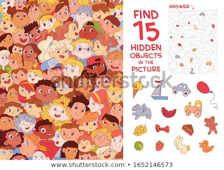 differences educational task with cartoon children Stock photo © izakowski