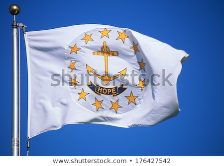 Vlag Rhode Island alle communie lagen Stockfoto © nazlisart
