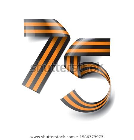 şerit form sayılar onur yıldönümü dizayn Stok fotoğraf © butenkow