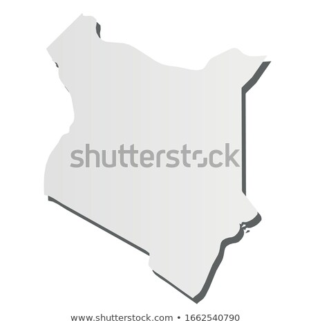 Kenya country map, simple black silhouette on gray Stock photo © evgeny89
