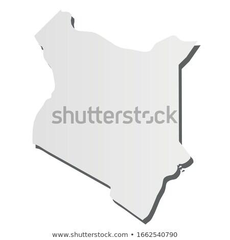 Kenia land kaart eenvoudige zwarte silhouet Stockfoto © evgeny89