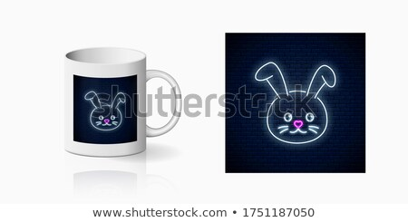 Baby Cup Neon Sign Stock photo © Anna_leni