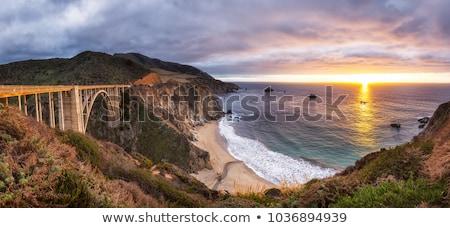 Apus vest coastă nori natură peisaj Imagine de stoc © photoblueice