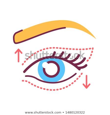Female eye pictogram  Stock photo © adrian_n