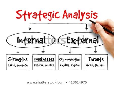 стороны рисунок бизнеса анализ диаграммы белый Сток-фото © posterize