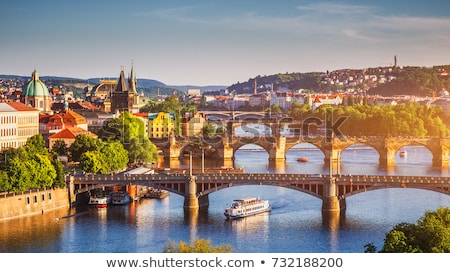 старые · центра · Прага · Чешская · республика · воды · дерево - Сток-фото © spectral
