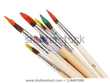 Gouache with brush isolated Stock photo © Givaga