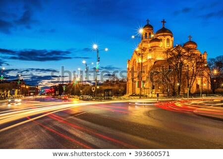 Kathedraal onderstelling Bulgarije nacht shot licht Stockfoto © elly_l