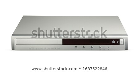 black dvd player isolated Stock photo © ozaiachin