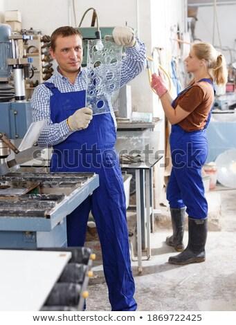 Bored tradesman at work Stock photo © photography33