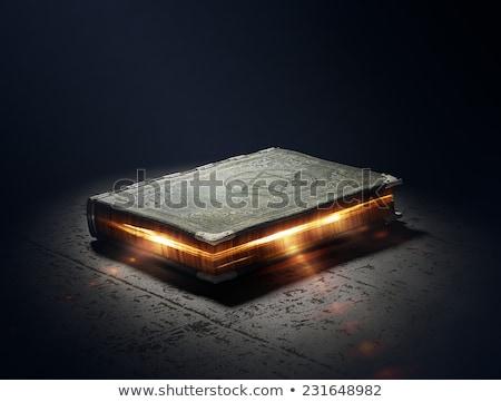 Pomarańczowy starej książki świecie książki tle edukacji Zdjęcia stock © Witthaya