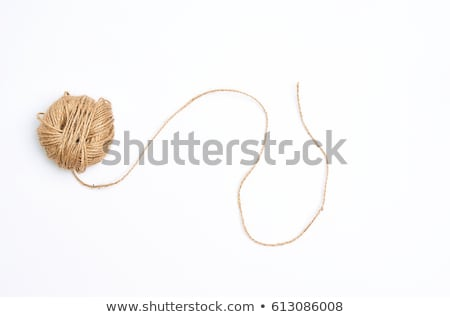 skein of brown thread is isolated on a white background Stock photo © vlaru