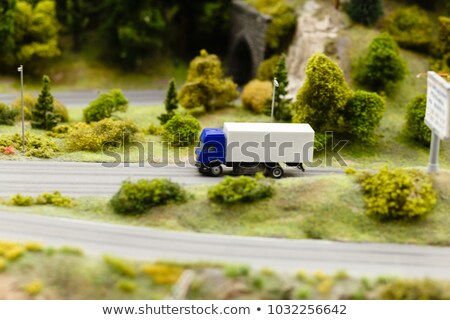 Scale model of red of road vehicle Stock photo © photography33