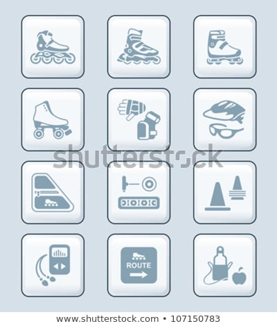 Inline skating icons   TECH series Stock photo © sahua