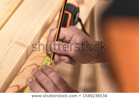 close up of craftsman taking measurements stock photo © photography33