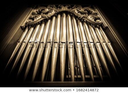 Edad órgano iglesia Helsinki Finlandia arquitectura Foto stock © RuslanOmega