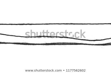 Parça siyah kordon kumaş arka plan Stok fotoğraf © pzaxe