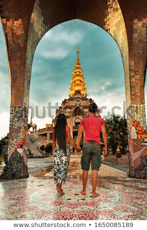 thai lanna style big gold buddha image stock photo © nuttakit