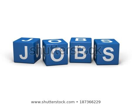blue cube with job word on boxes Stock photo © marinini