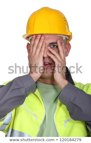 Tradesman afraid to look Stock photo © photography33