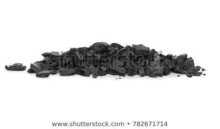 carvão · isolado · branco · natureza · rocha - foto stock © rob300