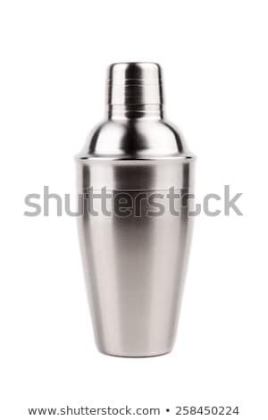 Staal shaker geïsoleerd witte leuk cocktail Stockfoto © ozaiachin