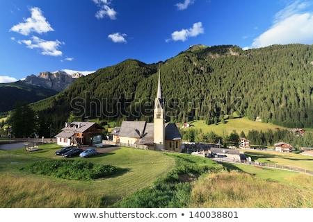 church in Alba di Canazei Stock photo © Antonio-S