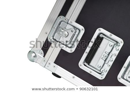 Metaliczny drogowego przypadku odizolowany metal studio Zdjęcia stock © shutswis
