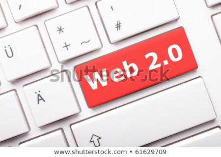 Web 20 woord Rood kleur tekst Stockfoto © tashatuvango