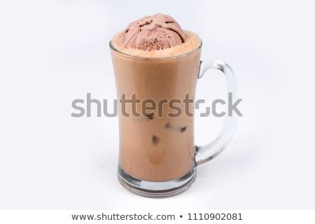Helado cono blanco alimentos chocolate verano Foto stock © Kesu
