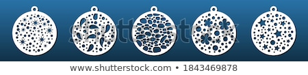 Absztrakt karácsony labda szett terv festék Stock fotó © rioillustrator
