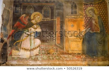 Fresco from Florence church - San Miniato al Monte Stock photo © wjarek