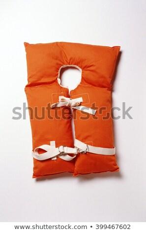 emergency safety jacket isolated on white stock photo © shutswis