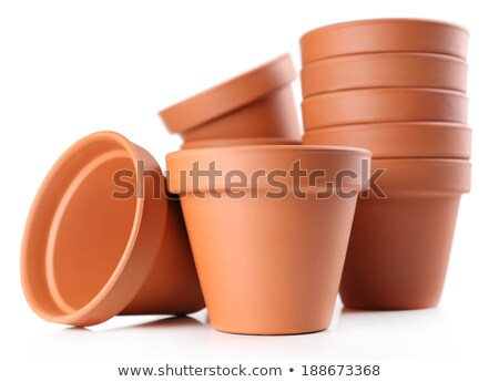 Flower pots piled up Stock photo © zzve