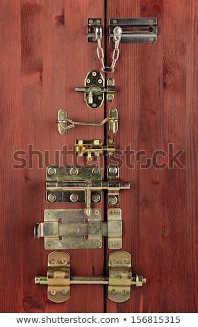 Foto stock: Velho · ferro · porta · trancar · antigo